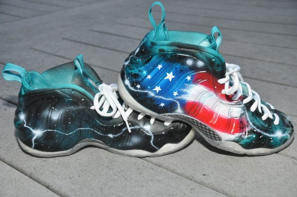 Nike Air Foamposite One United Nations Customs by DEZ Customz