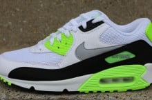 Nike Air Max 90 Essential 'White/Wolf Grey-Flash Lime'