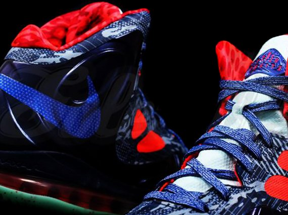 Nike Air Max Hyperposite Blue Red Graphic