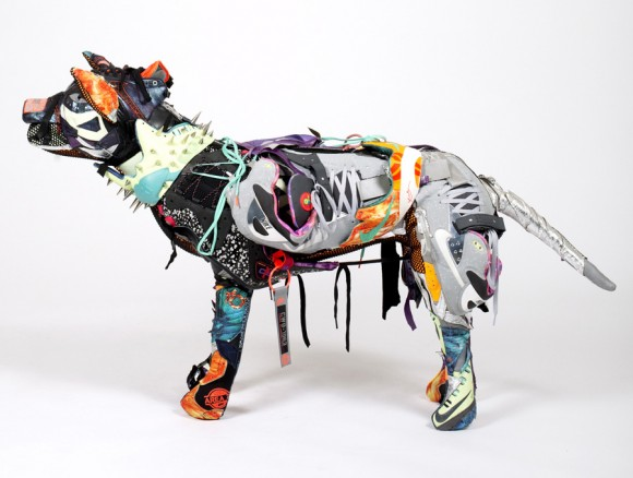 Nike Area 72 Pitbull Dog Sculpture by Vinti Andrews