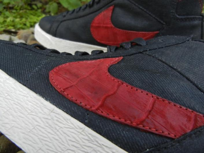 reputable site 4708f 28553 free shipping Nike Blazer Denim Croc Custom