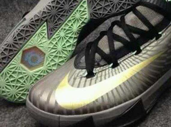 Nike KD VI Grey Mint Gold First Look