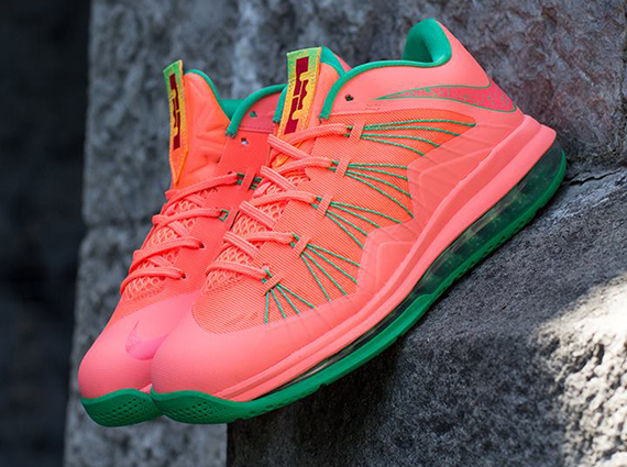 Nike LeBron X Low Bright Mango Another Look