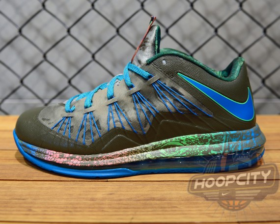 Nike LeBron X Low Tarp Green Neo Turquoise Poison Green