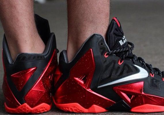 Nike LeBron XI Heat On Feet Images