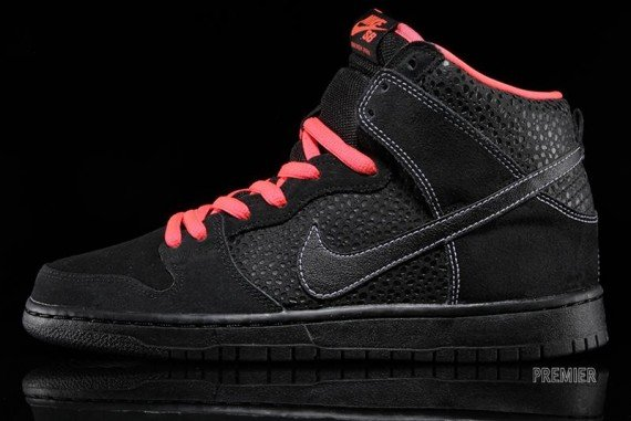 Nike SB Dunk High Black Safari Atomic Red Now Available
