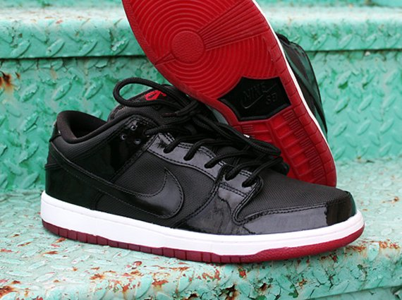 Nike SB Dunk Low Bred by Dank Customs