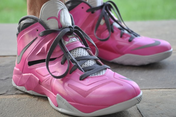 Nike Zoom LeBron Soldier VII Think Pink On Foot First Look