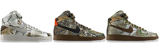 NIKEiD Air Force 1 Realtree Camo Options Now Available
