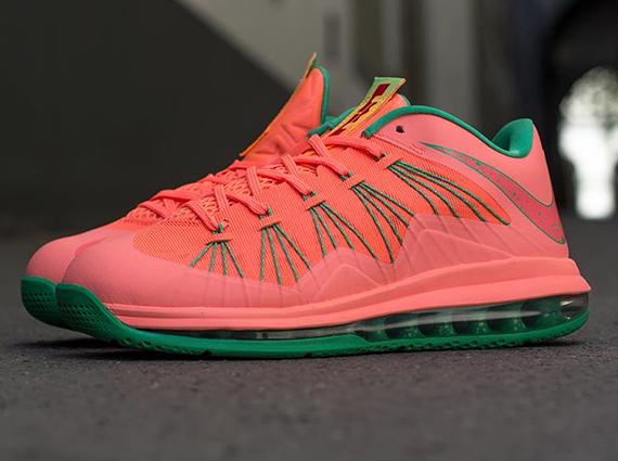 buy online 695fe a3a74 ... 579765 801 Pink Green MANGO  Nike Air Max LeBron X Low Watermelon  579765801 ... release-reminder-nike-lebron-x-10-bright-mango- ...