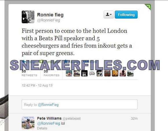 Ronnie Fieg Offers Fan A Pair Of Kicks For Speakers And 5 Cheeseburgers Seriously