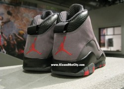 "Air Jordan X (10) ""Cool Grey/Infared"" – Detailed Pictures"