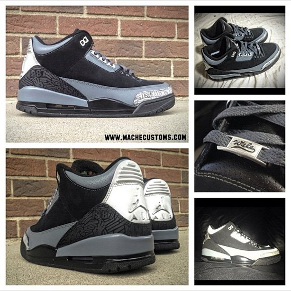 Mache Air Jordan III for Wale