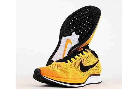 Nike Flyknit Racer Yellow Black New Release