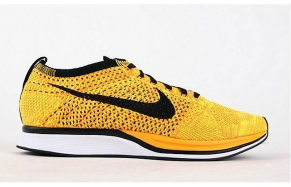 huge selection of 4f17a c3c55 Nike Flyknit Racer Yellow Black New Release