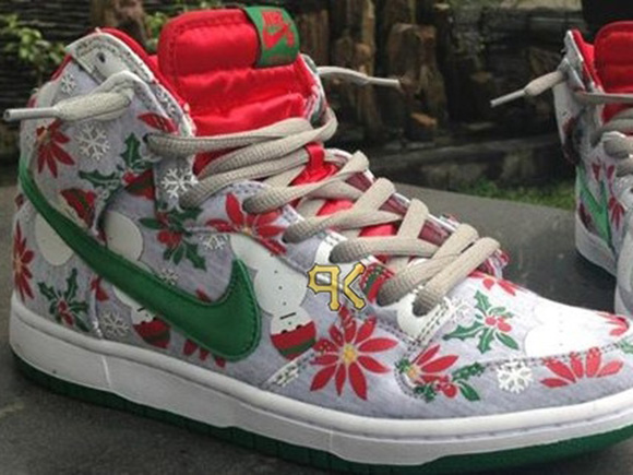 chic Nike SB Dunk High X CNCPTS Ugly Christmas Sweater First Look