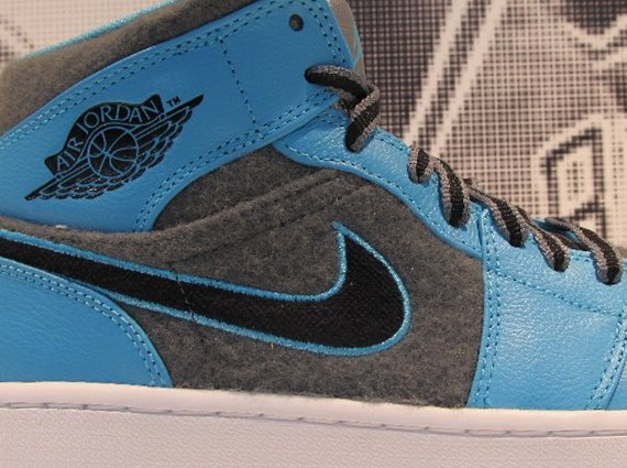 Air Jordan 1 Mid Grey Felt First Look