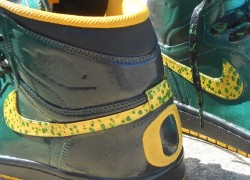 "Air Jordan 1 ""Oregon Ducks"" Customs by Zadeh Kicks"