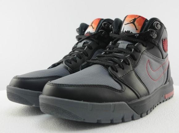 Air Jordan 1 Trek First Look. Air Jordan 1 Trek First Look. Air Jordan 1  Trek Cool Grey/Gym Red-Black