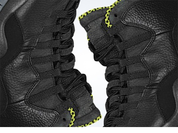 Air Jordan 10 Black Cool Grey Anthracite Venom Green First Look