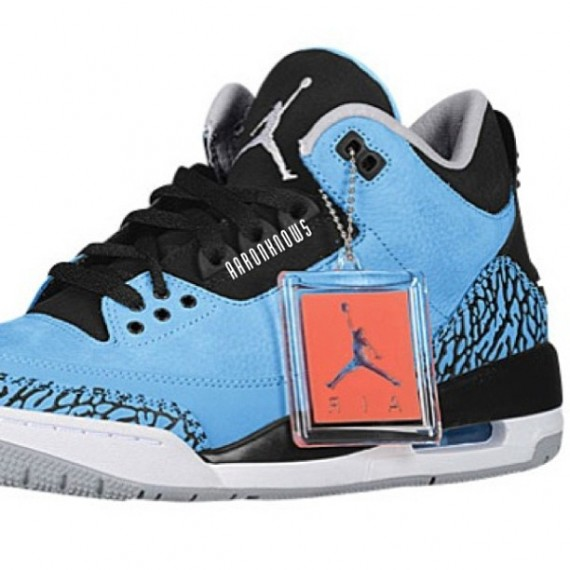 Jordan 3 powder blue celebrity gowns