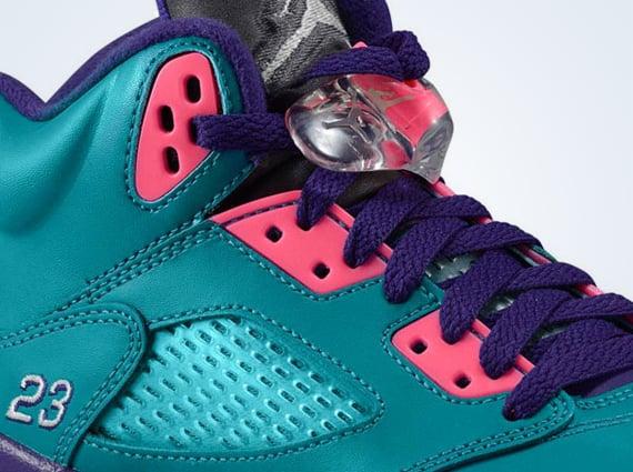 Air Jordan 5 GS Teal Pink Purple Another Look