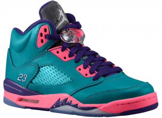 Air Jordan 5 GS Teal Pink Purple Another Look