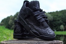 "Air Jordan IV ""Black Python"" Customs by McMaggi"