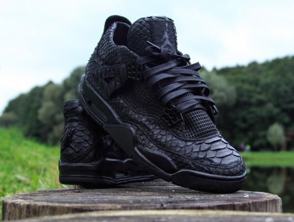 Air Jordan IV Black Python Customs by McMaggi