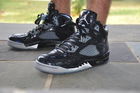 Doernbecher 5 Glow In The Dark On Feet Air Jordan V 5 Doernbecher On