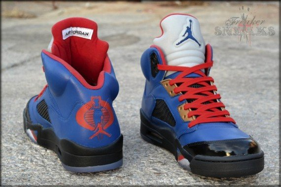 Air Jordan V Cobra Commander Customs by Freaker Sneaks