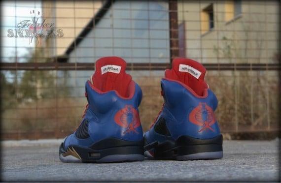 Air Jordan V Cobra Commander Customs by Freaker Sneaks
