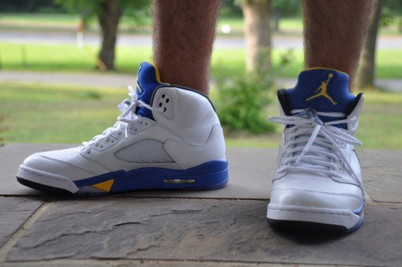 Air Jordan V Laney On-Feet Beauty Shots