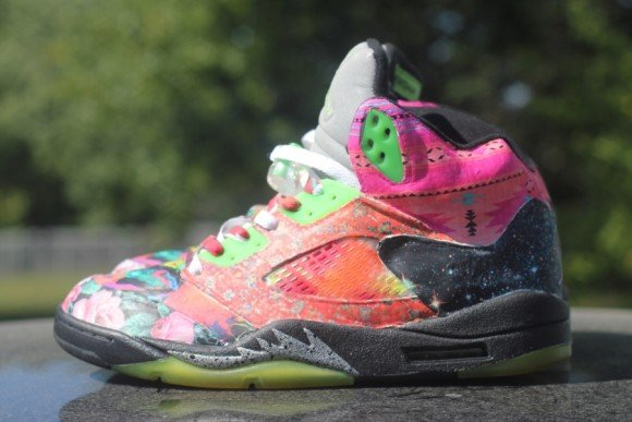 Air Jordan V Prince of Fresh Customs by Rocket Boy Nift
