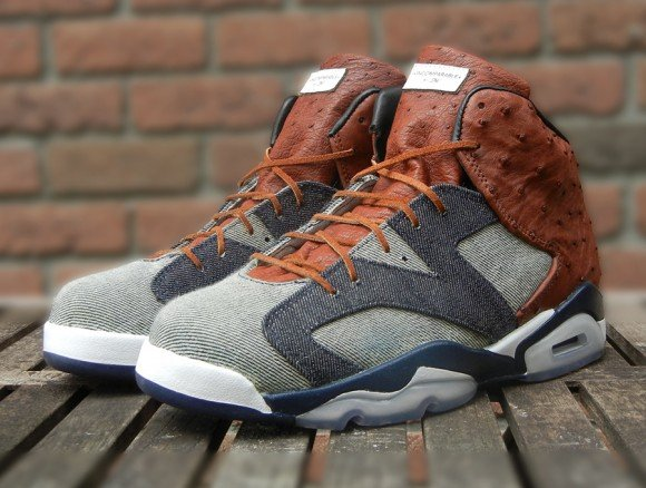 Air Jordan VI Ostrich and Denim by JBF Customs