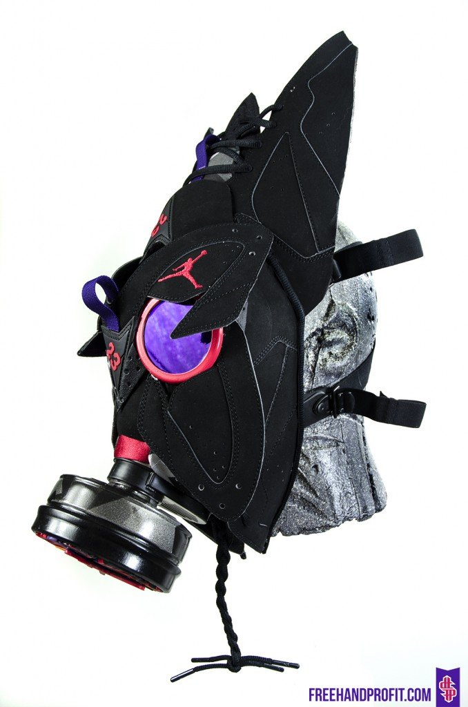 reputable site 4308c 03a6e Air Jordan VII 7 Raptor   Gas Mask by Freehand Profit best