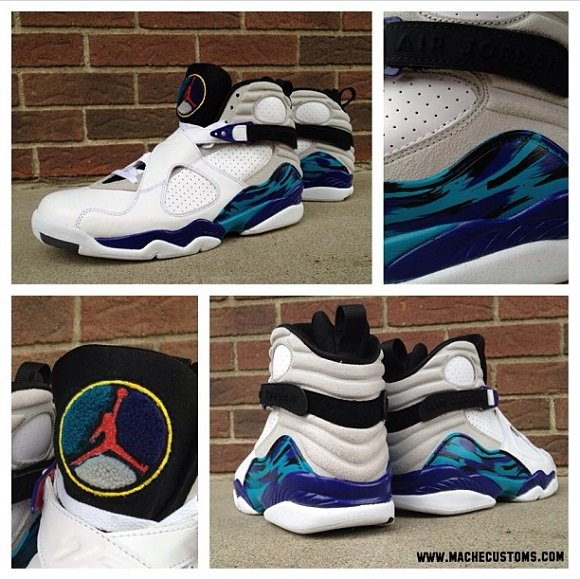 Air Jordan VIII 8 Home Aqua Custom By Mache Available