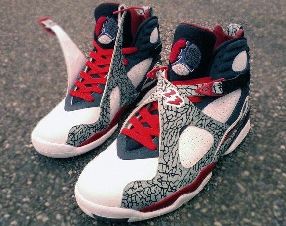 Air Jordan VIII Elephant Print Customs by Mr Exclusive Customs