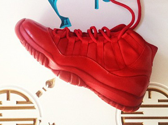 "Air Jordan XI ""Red"" Customs by El cappy  14f9a81872a"