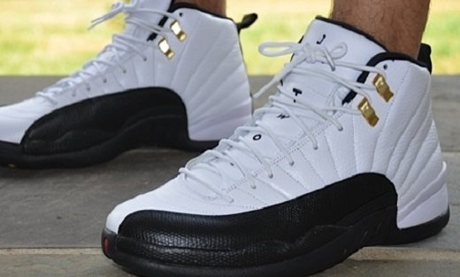 new styles 5357a e1ac8 Air Jordan XII 12 Retro Taxi On Feet Images