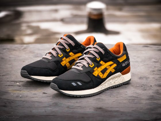 asics gel lyte iii black tan for sale