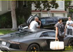 Celebrity Sneaker Watch: Kanye West Spotted in Nike Free Inneva Woven 'Mine Grey/Laser Orange'