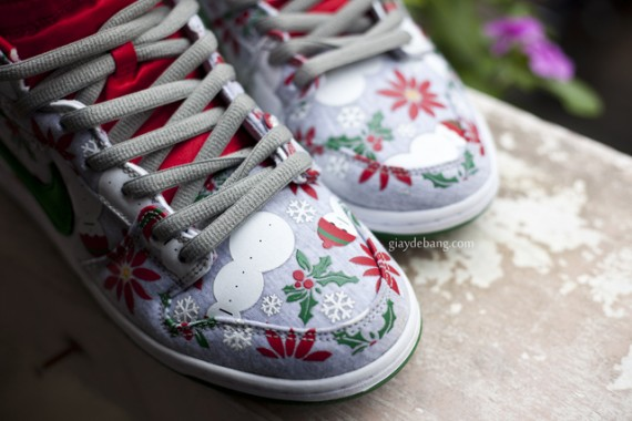 CNCPTS x Nike SB Dunk High Ugly Christmas Sweater Another Look