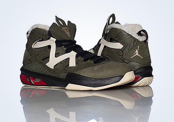Jordan Melo M9 Cargo Khaki Zinc Black Gym Red Now Available