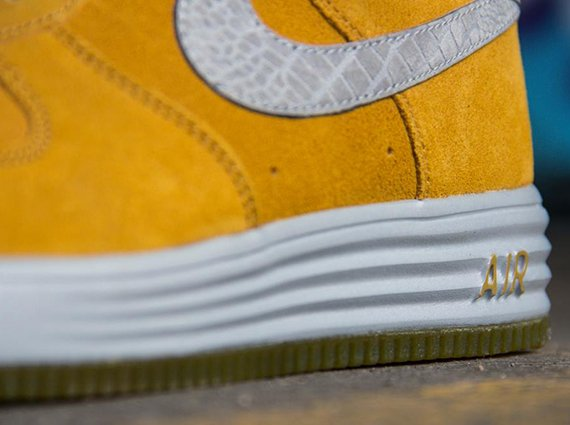 Nike Lunar Force 1 Reflect Gold Suede Reflective Silver