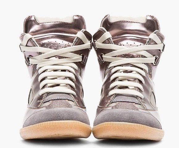 Maison Martin Margiela Pewter Leather Replica High Tops SSENSE Exclusive First Look