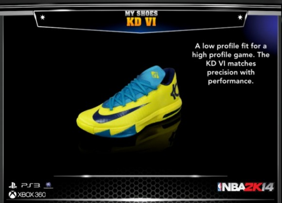 NBA 2K14 Reveals New Sneaker Lineup