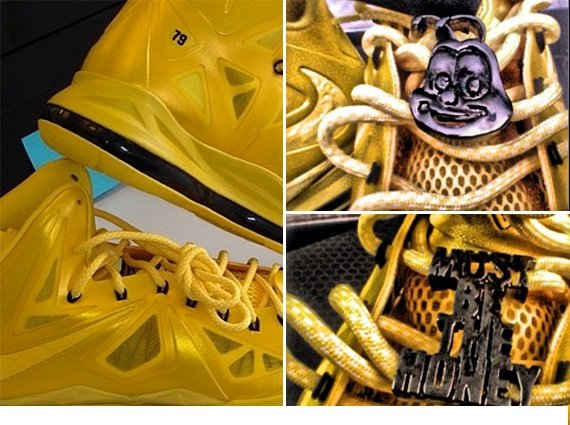 "be52564101b Nelly x Honey Nut Cheerios NIKEiD LeBron X ""Must Be The Honey ..."
