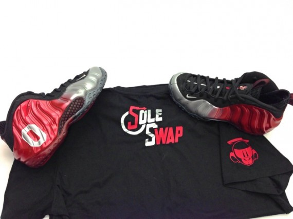 Nike Air Foamposite One Ohio State Customs by Sole Swap
