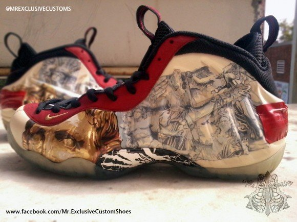 Nike Air Foamposite Pro Yeezus by Mr Exclusive Customs